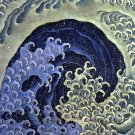 Femenine Wave seascape Japanese canvas art print by Katsushika Hokusai