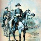 General Robert E Lee at Gettysburg Battle Civil War canvas art print