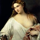 La Flora 1516 canvas art print by Titian or Tiziano