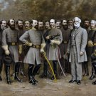 General Lee and his generals Civil War canvas art print Matthews LARGE
