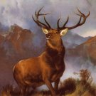 Deer stag canvas Monarch of the Glen art print by Landseer