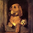 Dignity and Impudence 1839 dogs animal canvas art print Sir Landseer