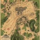 Gettysburg map 1863 Civil War canvas art print by William H. Willcox