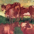 Cows animal herd canvas art print by van Gogh