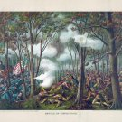 Battle of Tippecanoe Indian 1811 Civil War canvas art print by Kurz and Allison