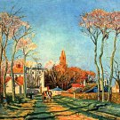 Village Entrance of Voisins 1872 canvas art print by Camille Pissarro