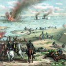 Monitor Merrimack Naval Battle Civil War canvas art print Kurz Allison