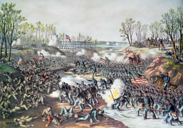 Shiloh Battle Pittsburg Land'g Civil War canvas art print Kurz Allison