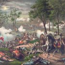 Chancellorsville Battle 1863 Civil War canvas art print Kurz & Allison