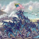Fort Wagner Storming battle Civil War canvas art print Kurz & Allison