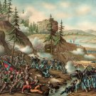 Chattanooga Battle Grant Bragg Civil War canvas art print Kurz Allison