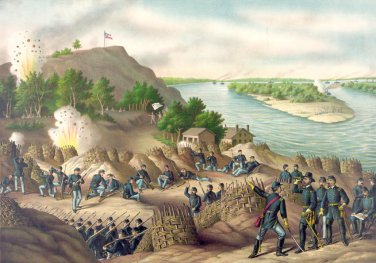 Vicksburg Siege battle Grant Civil War canvas art print Kurz & Allison