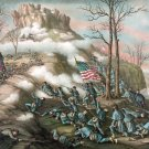 Lookout Mountain Battle 1863 Civil War canvas art print Kurz & Allison
