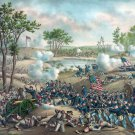 Cold Harbor Battle Grant Lee Civil War canvas art print Kurz & Allison