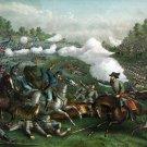 Battle Third Winchester 1864 Civil War canvas art print Kurz & Allison