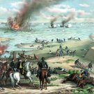 Naval Battle Monitor Merrimack Civil War canvas art print Kurz Allison