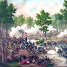 Battle Spotsylvania Meade Lee Civil War canvas art print Kurz Allison