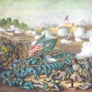 Battle Williamsburg Magruder Civil War canvas art print Kurz Allison