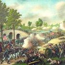 Battle of Antietam Sharpsburg Civil War canvas art print Kurz Allison