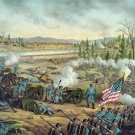 Battle of Stones River 1862 Civil War canvas art print Kurz & Allison
