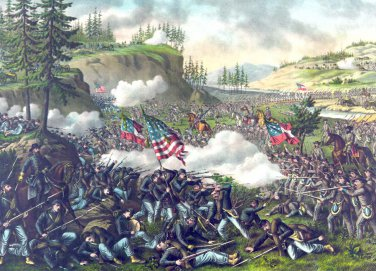 Battle Chickamauga Georgia Civil War canvas art print Kurz & Allison