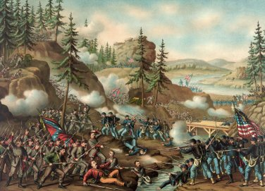 Battle Chattanooga Grant Bragg Civil War canvas art print Kurz Allison
