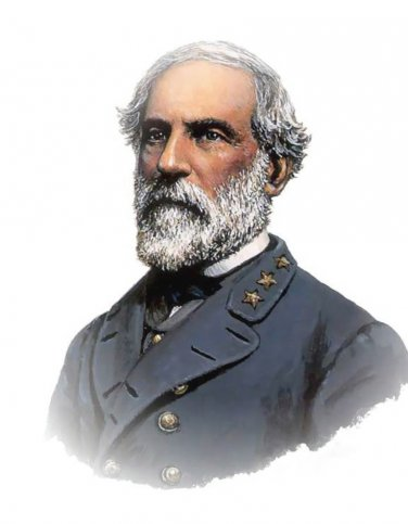 Robert E Lee Portrait General Confederate Civil War canvas art print