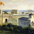 Fort Moultrie Charleston Harbor Civil War canvas art print Vizitelly