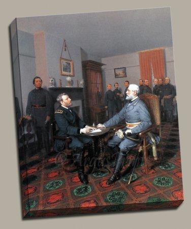Lee Surrenders Grant Civil War Gallery Wrap canvas art print Guillaume
