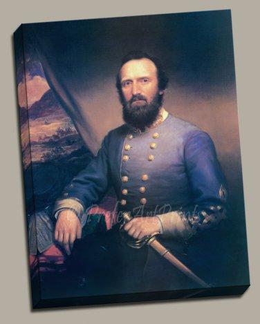 General Thomas Stonewall Jackson Gallery Wrap canvas art print Browne