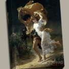 The Storm Couple Woman Man Gallery Wrap canvas art print Pierre A Cot