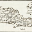 St. Croix Danish West Indies US Virgin Islands 1767 Plantation Caribbean Map by Paul Kussner