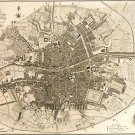 Dublin Ireland map 1797 by William Faden