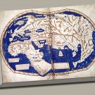 World Map 1489 Manuscript Gallery Wrap Print by Martellus