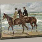 Two Riders on the Beach Gallery Wrap canvas art print Liebermann