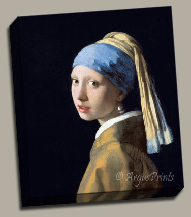 Girl with a Pearl Earring Gallery Wrap canvas art print Vermeer