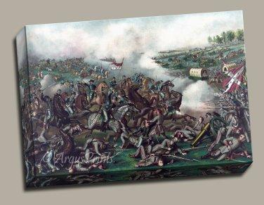 Five Forks battle Gallery Wrap canvas print Kurz and Allison