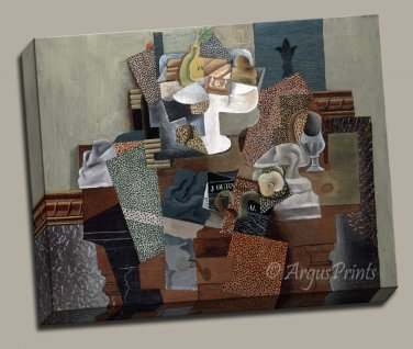 Cubism Still Life Compote and Glass Gallery Wrap canvas art print Picasso
