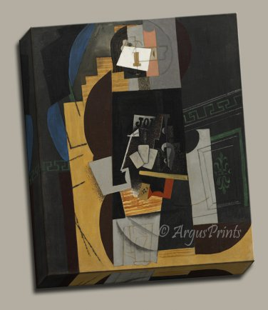 Cubism Card Player Gallery Wrap canvas art print Picasso