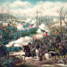 Pea Ridge Battle Elkhorn Tavern Arkansas 1862 Civil War canvas art print Kurz and Allison
