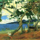 Beach Scene I water landscape canvas art print by Paul Gauguin