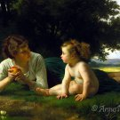 Temptation 1880 woman canvas art print by William Adolphe Bouguereau