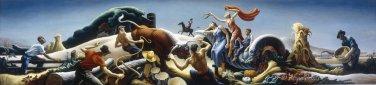 Achelous and Hercules 1947 large canvas art print by Thomas Benton