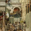 Spring 1894 people Victorian canvas art print by Lawrence Alma Tadema