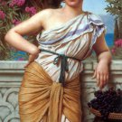 Reverie 1912 woman canvas art print by John William Godward