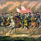 General Ulysses Grant and his Generals on horseback art print 1865 Boell