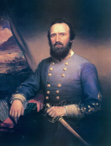 General Thomas Stonewall Jackson Civil War fine art print by Browne
