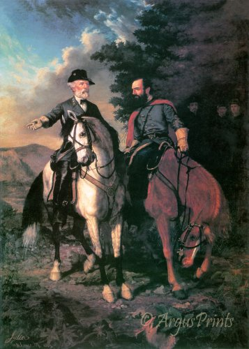 Lee and Jackson Last Meeting Civil War fine art print by Julio