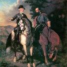 Lee and Jackson Last Meeting Civil War canvas art print by Julio LARGE