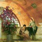 Unconscious Rivals 1893 women Victorian fine art print Lawrence Alma Tadema